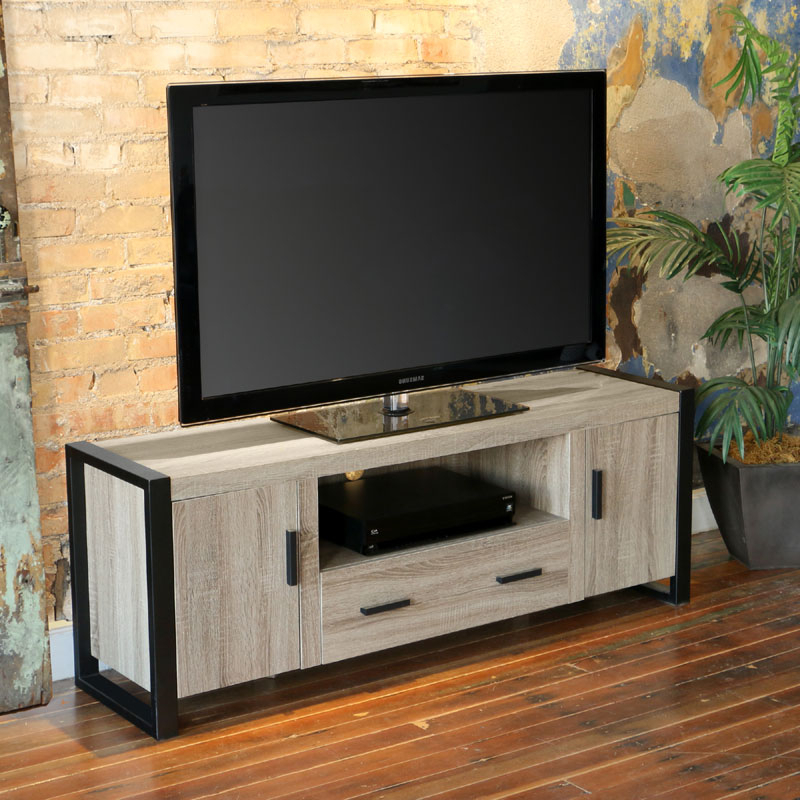 """Bloomfield Tv Stands For Tvs Up To 65"""" Pertaining To 2020 Walker Edison Urban Blend 65 Inch Tv Console Ash Gray And (View 15 of 20)"""