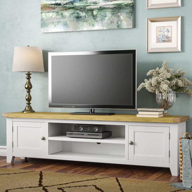 """Brambly Cottage Claire Extra Large Solid Wood Tv Stand For Intended For 2019 Mainor Tv Stands For Tvs Up To 70"""" (View 19 of 20)"""