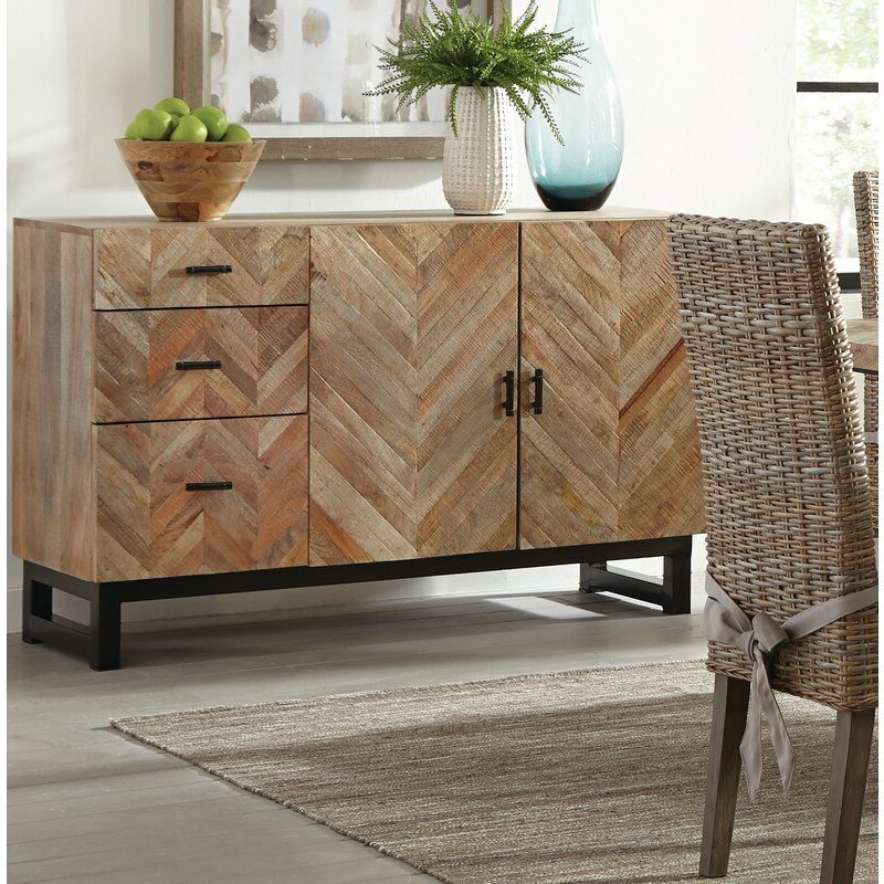 """Brentley 54"""" Wide 1 Drawer Sideboards In Latest Springdale 54"""" Wide 3 Drawer Mango Wood Sideboard In  (View 19 of 20)"""