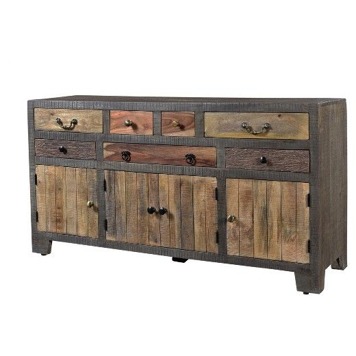 """Bring The Beauty Of Nature Directly Into Your Home With Within Most Current Hargrove 72"""" Wide 3 Drawer Mango Wood Sideboards (View 4 of 20)"""