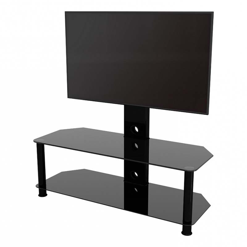 """Buckley Tv Stands For Tvs Up To 65"""" Throughout Most Current Avf Glass Corner Pedestal Tv Stand For 32 To 65 In Tvs (View 9 of 20)"""