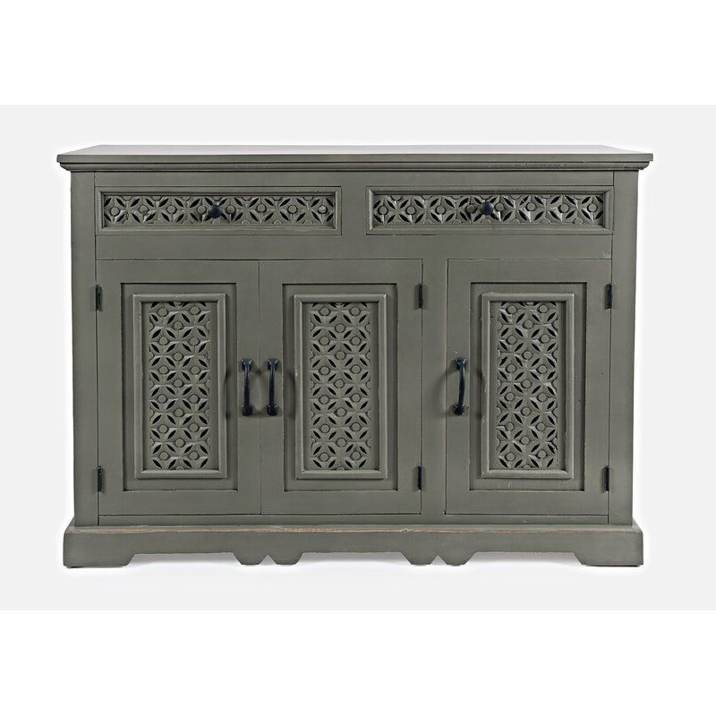 """Bungalow Rose Lorraine 48"""" Wide 2 Drawer Acacia Wood Inside 2020 Lorraine 48"""" Wide 2 Drawer Acacia Wood Drawer Servers (View 7 of 17)"""