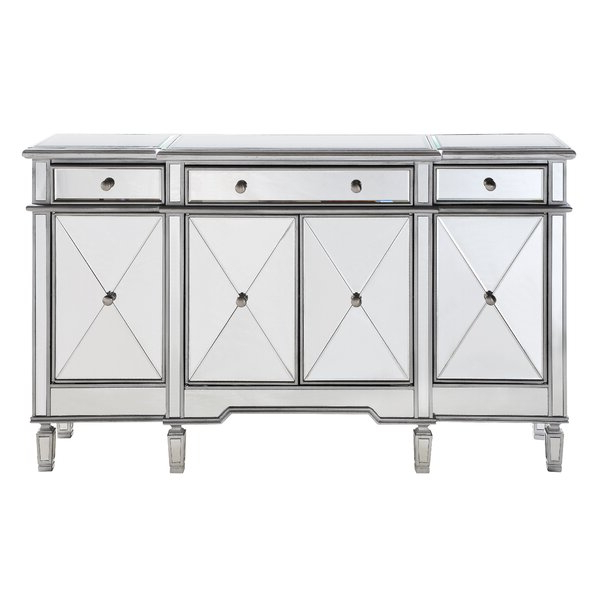 """Caila 60"""" Wide 3 Drawer Sideboards Inside Most Recent Willa Arlo Interiors Contempo 60"""" Wide 3 Drawer Sideboard (View 11 of 20)"""