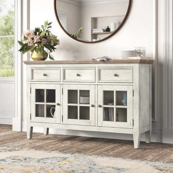 """Caila 60"""" Wide 3 Drawer Sideboards Pertaining To Most Current Kelly Clarkson Home Marion 60"""" Wide 3 Drawer Sideboard (View 16 of 20)"""