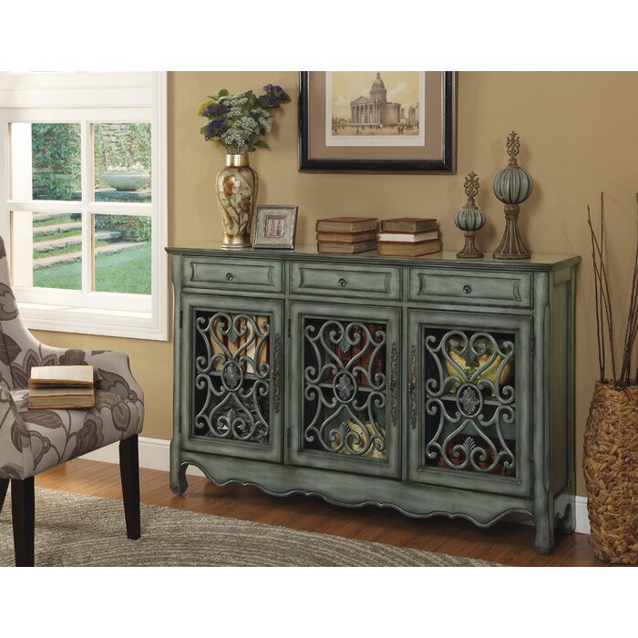 """Caila 60"""" Wide 3 Drawer Sideboards Pertaining To Widely Used Alcott Hill® Edwyn 60"""" Wide 3 Drawer Sideboard & Reviews (View 17 of 20)"""
