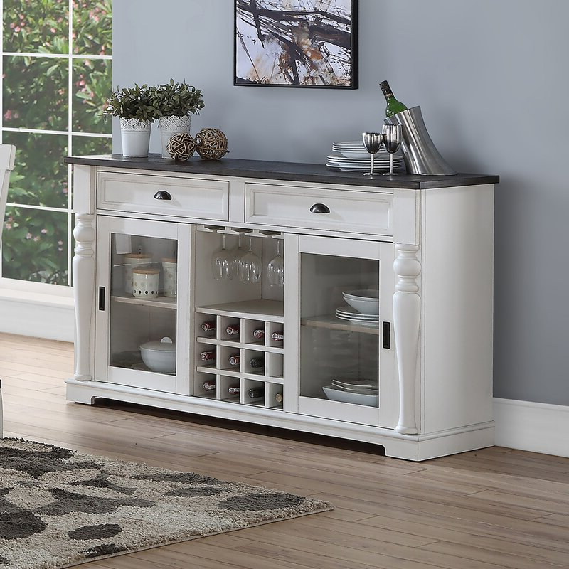 """Charlton Home® Jarett 60"""" Wide 2 Drawer Sideboard With Regard To Most Current Sandweiler 54"""" Wide 2 Drawer Sideboards (View 12 of 20)"""