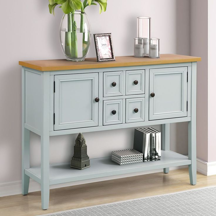 Chouchanik 46 Wide 4 Drawer Sideboards Pertaining To 2020 Clearance! Console Table With 4 Drawers, 46'' X 15'' X  (View 4 of 20)