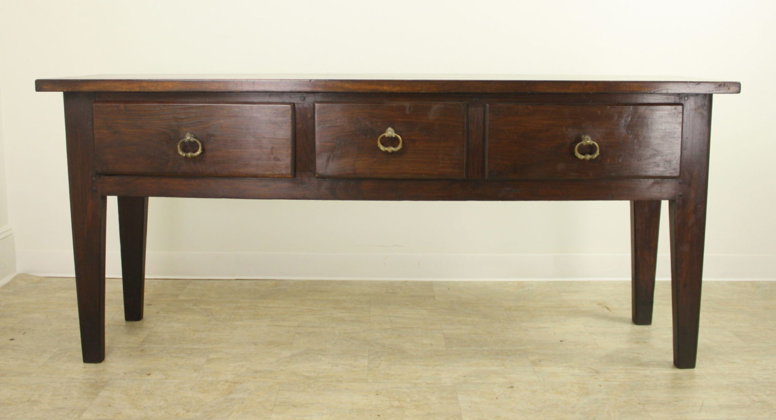Chunky Chestnut Server With Brass Lion's Head Drawer Pulls Inside Well Known Kaysville  (View 4 of 20)
