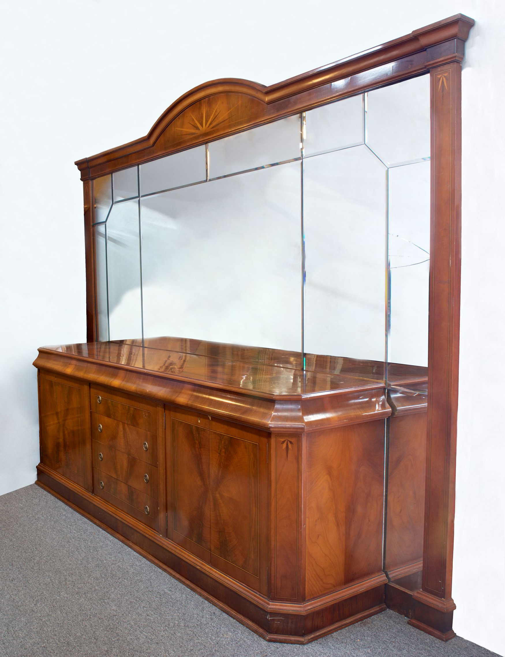 """Circa 1930 Argentine Mahogany Bevel Mirror Sideboard With Most Recent Miruna 63"""" Wide Wood Sideboards (View 20 of 20)"""