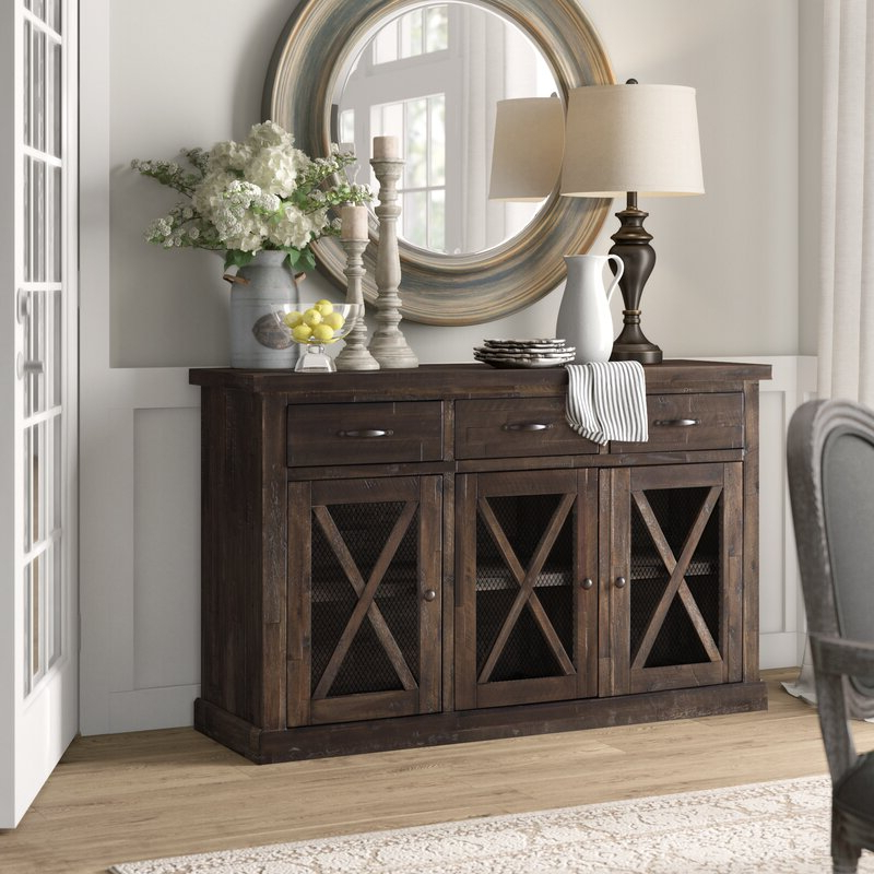 """Claire 70"""" Wide Acacia Wood Sideboards Throughout Preferred Top 4 Best Narrow Sideboard Cabinet In 2020 – Buyer's (View 3 of 20)"""