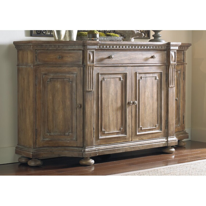"""Coles 72 Wide Sideboards Throughout Fashionable Hooker Furniture Sorella 72"""" Wide 3 Drawer Sideboard (View 10 of 20)"""