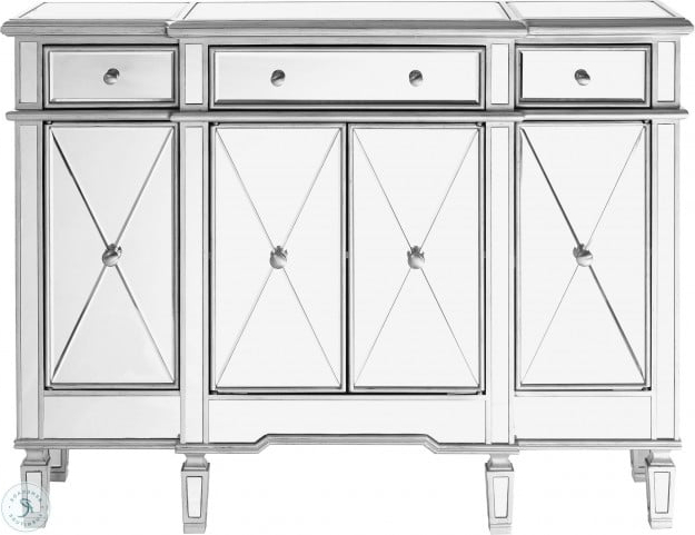 """Contempo 48"""" Hand Rubbed Antique Silver Cabinet From Throughout Well Known Pandora 42"""" Wide 2 Drawer Servers (View 12 of 20)"""