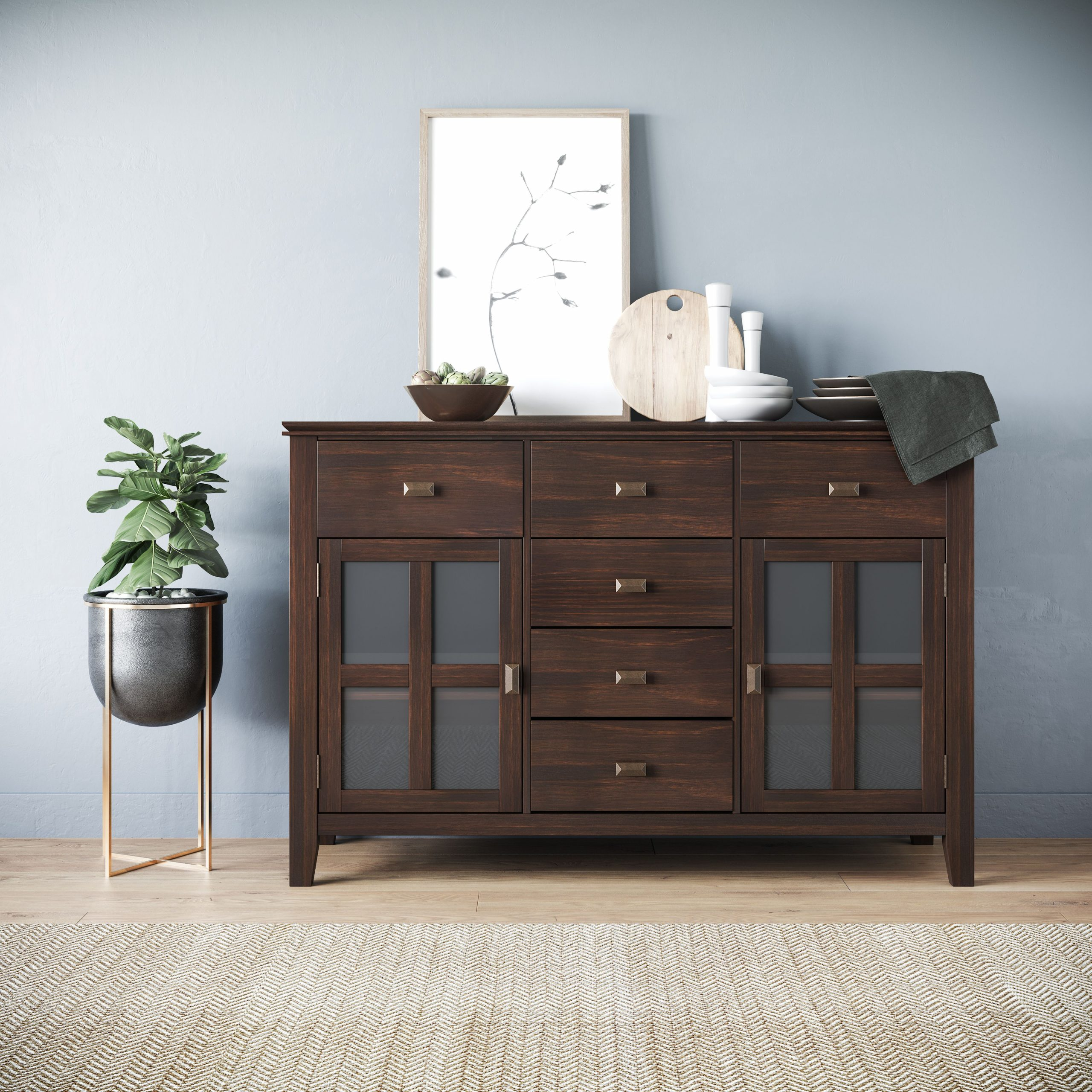 """Featured Photo of Annabella 54"""" Wide 3 Drawer Sideboards"""