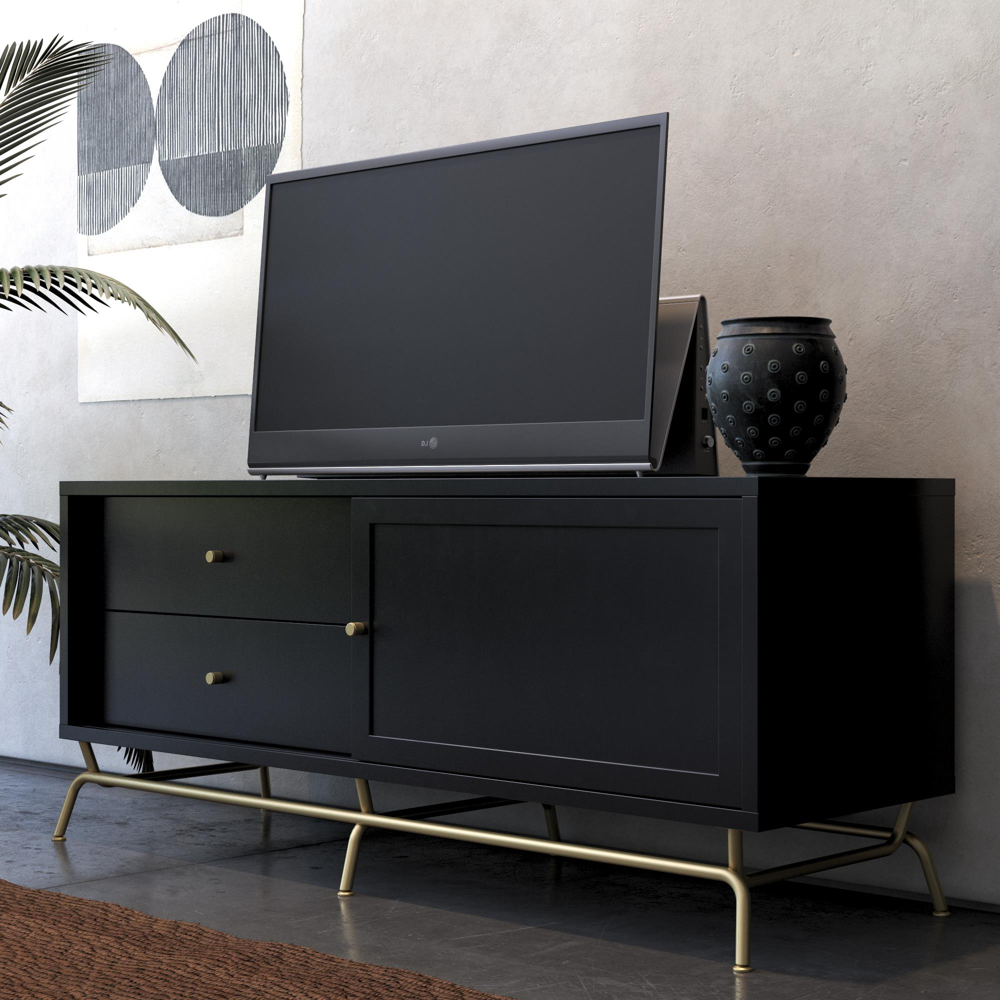 """Cosmolivingcosmopolitan Nova Tv Stand For Tvs Up To 65 Throughout Most Current Adora Tv Stands For Tvs Up To 65"""" (View 18 of 20)"""