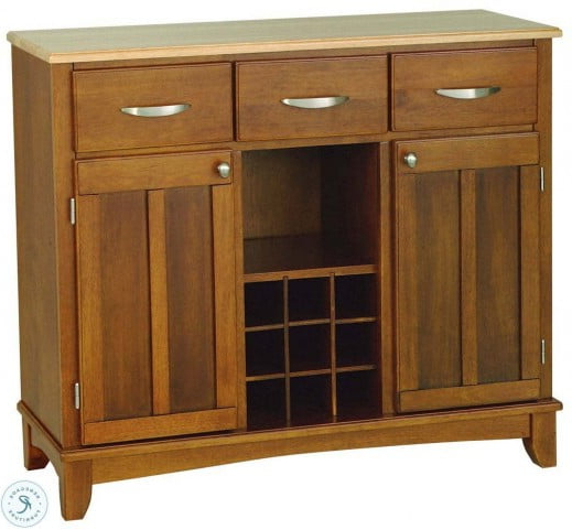 """Cottage Oak And Natural Large 3 Utility Drawer Buffet With Inside 2020 Pandora 42"""" Wide 2 Drawer Servers (View 2 of 20)"""