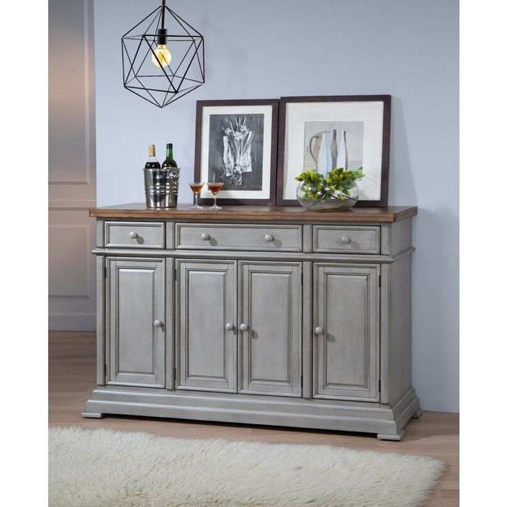 """Courtdale 60"""" Wide 3 Drawer Sideboard In  (View 4 of 20)"""