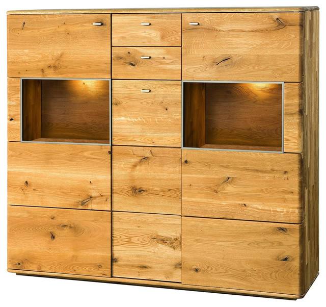 Current Dallas Ii Assembled Large Solid Wood Display Sideboard Intended For Wood Accent Sideboards Buffet Serving Storage Cabinet With 4 Framed Glass Doors (View 16 of 20)