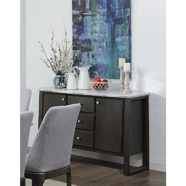 """Current Latitude Run® Evnika 54"""" Wide 3 Drawer Walnut Wood Intended For Annabella 54"""" Wide 3 Drawer Sideboards (View 15 of 20)"""