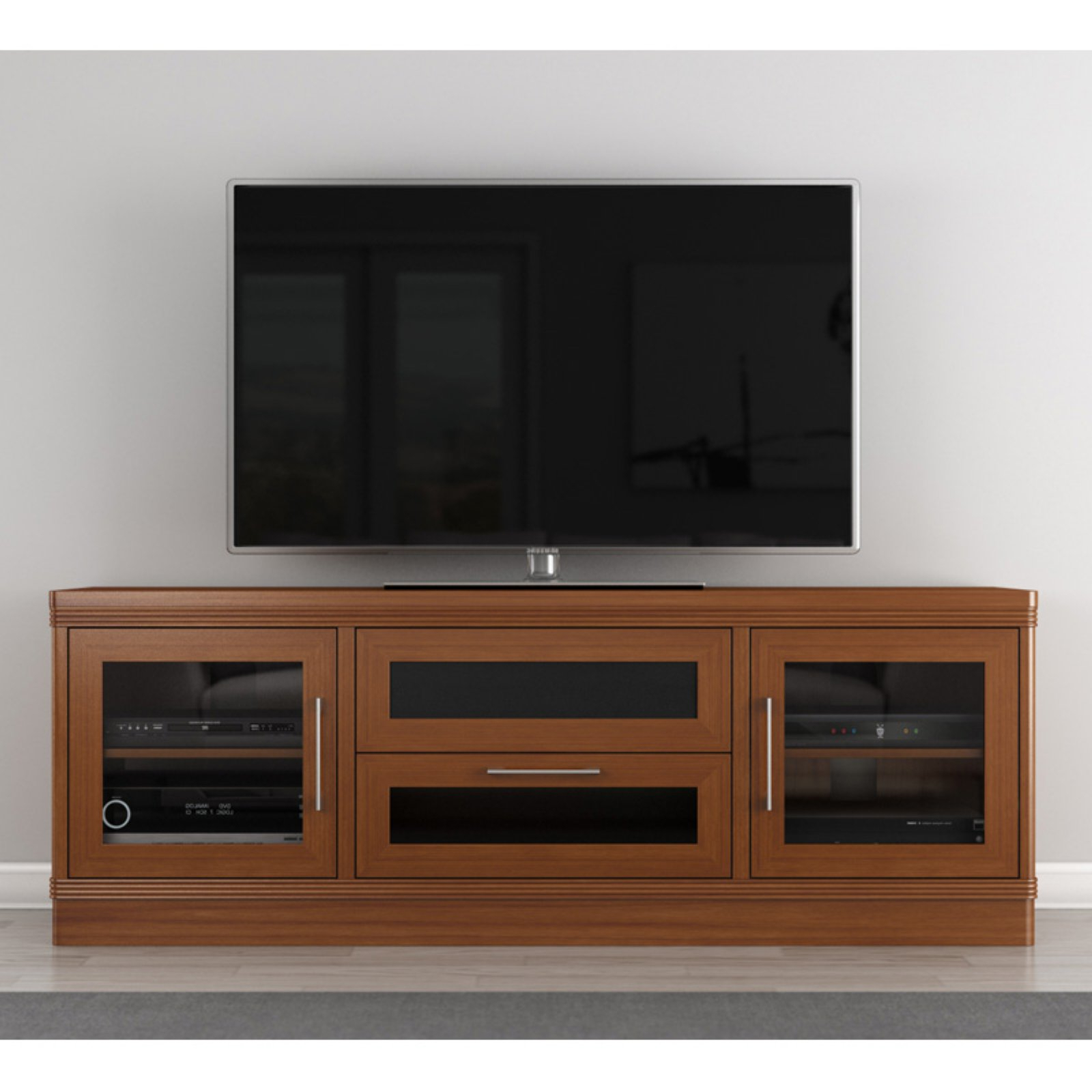 """Current Mainor Tv Stands For Tvs Up To 70"""" Pertaining To Furnitech Transitional 70 Inch Tv Stand – Walmart (View 17 of 20)"""