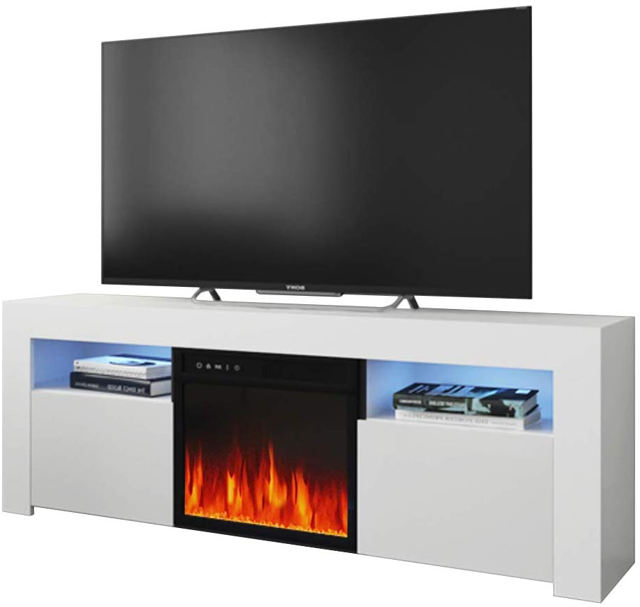 """Current Milano 145ef Electric Fireplace Modern 58"""" Tv Stand Regarding Greggs Tv Stands For Tvs Up To 58"""" (View 14 of 20)"""
