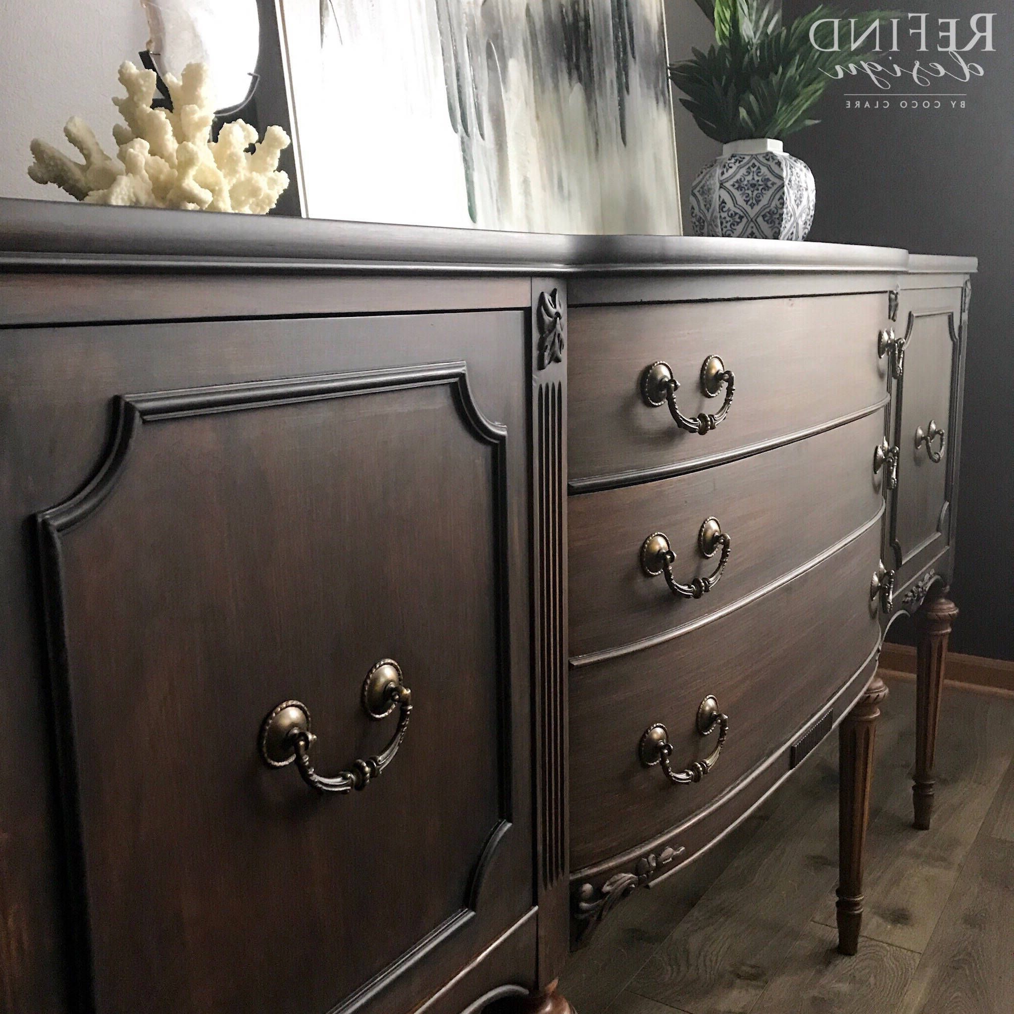 Current Orner Traditional Wood Sideboards In Sold Vintage Traditional Buffet, Black Modern Sideboard (View 15 of 20)