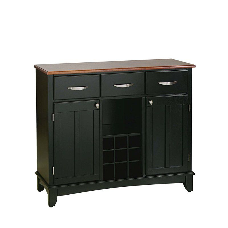 """Current Presswood Traditional 42"""" Wide 3 Drawer Server (View 8 of 20)"""