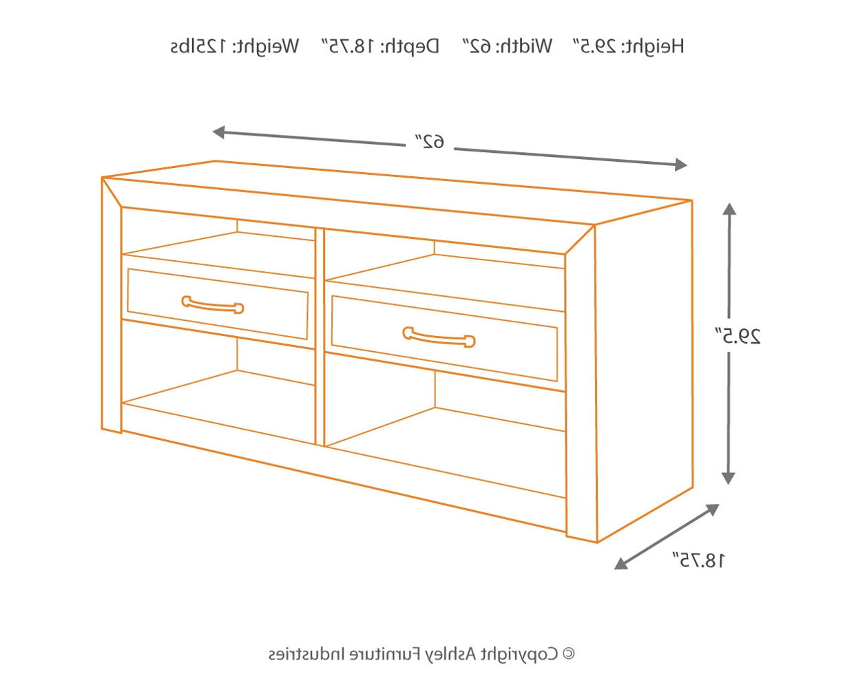 """D775 60 In Westhoff 60"""" Wide 6 Drawer Pine Wood Credenzas (View 3 of 20)"""