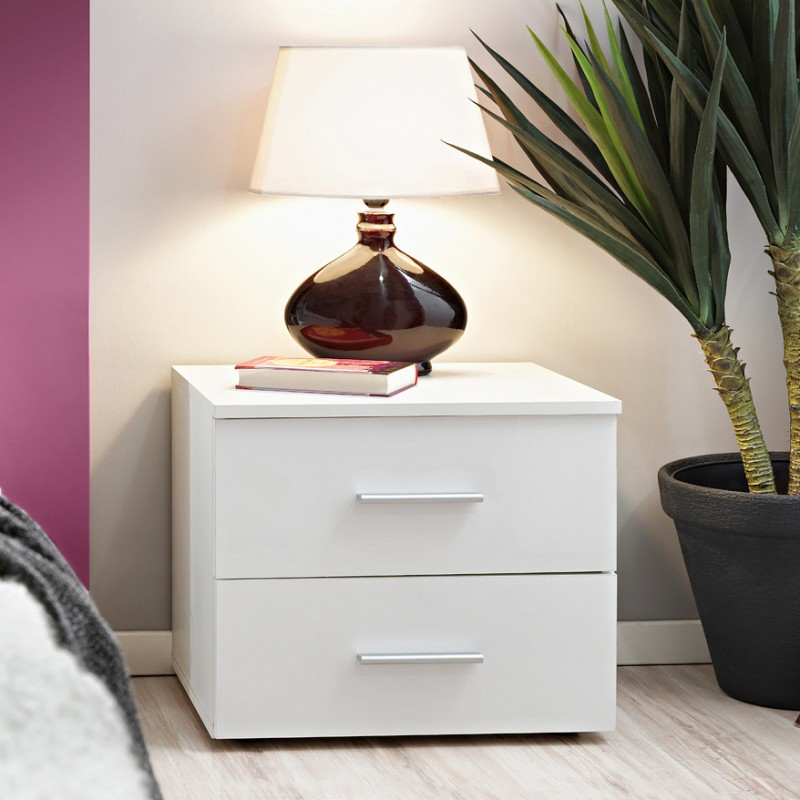 """Daisi 50"""" Wide 2 Drawer Sideboards Pertaining To Widely Used Vicky Bedside Table Bmf 50cm Wide Chest Of Drawer Two (View 16 of 20)"""