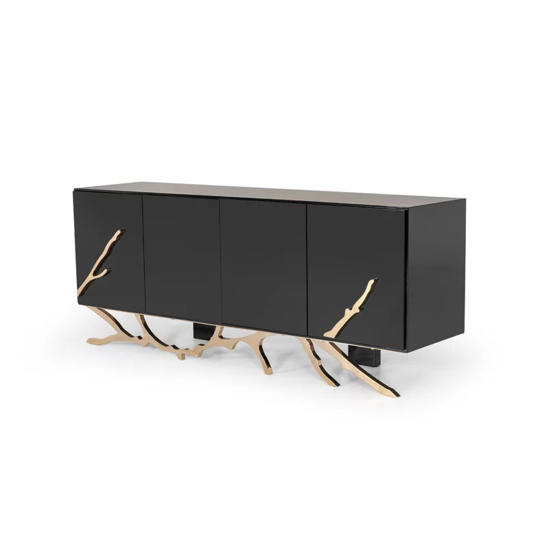 """Dalessio 79"""" Wide 2 Drawer Buffet Table (View 4 of 20)"""