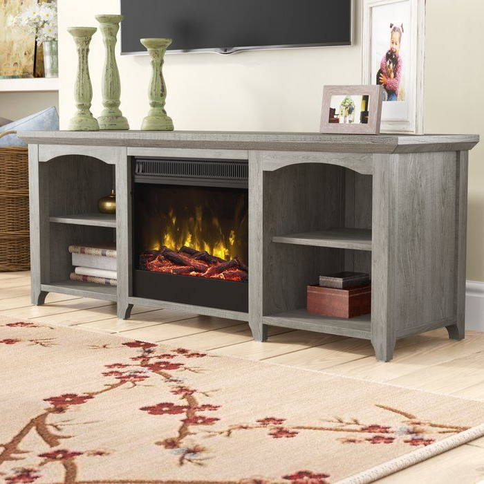 """Danforth Tv Stand For Tvs Up To 60"""" With Fireplace With Regard To 2020 Evanston Tv Stands For Tvs Up To 60"""" (View 18 of 20)"""