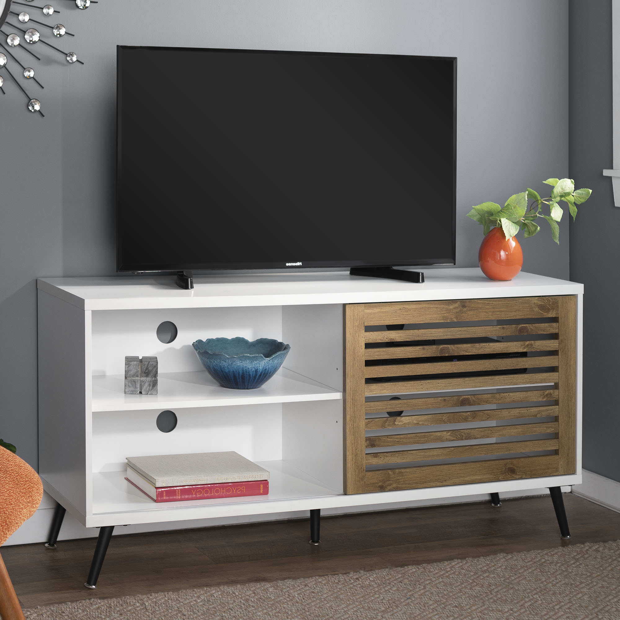 """Desert Fields Mid Century Modern Tv Stand For Tvs Up To 58 Throughout Current Josie Tv Stands For Tvs Up To 58"""" (View 10 of 20)"""