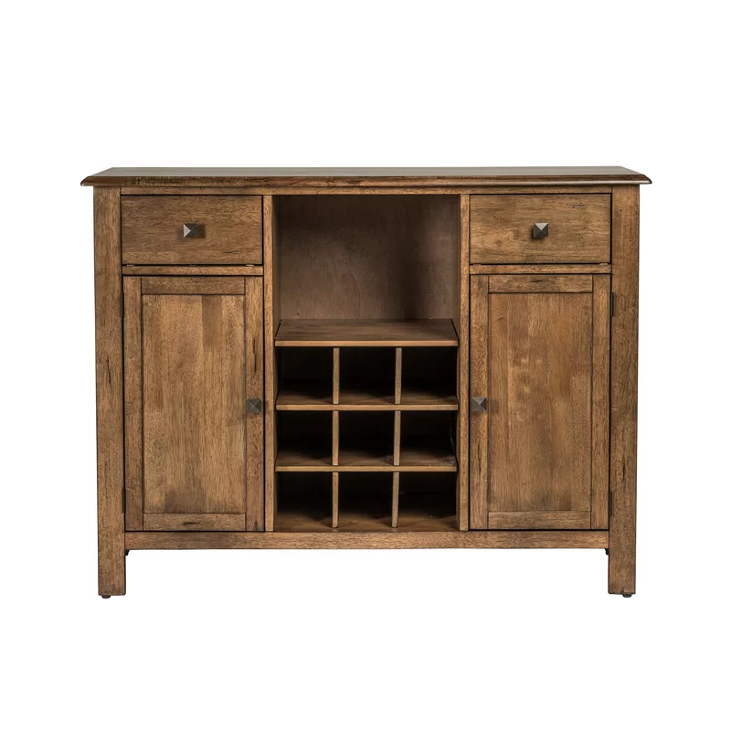 """Desirae 48"""" Wide 2 Drawer Sideboards In Fashionable Ross 48"""" Wide 2 Drawer Rubberwood Wood Server (View 2 of 20)"""