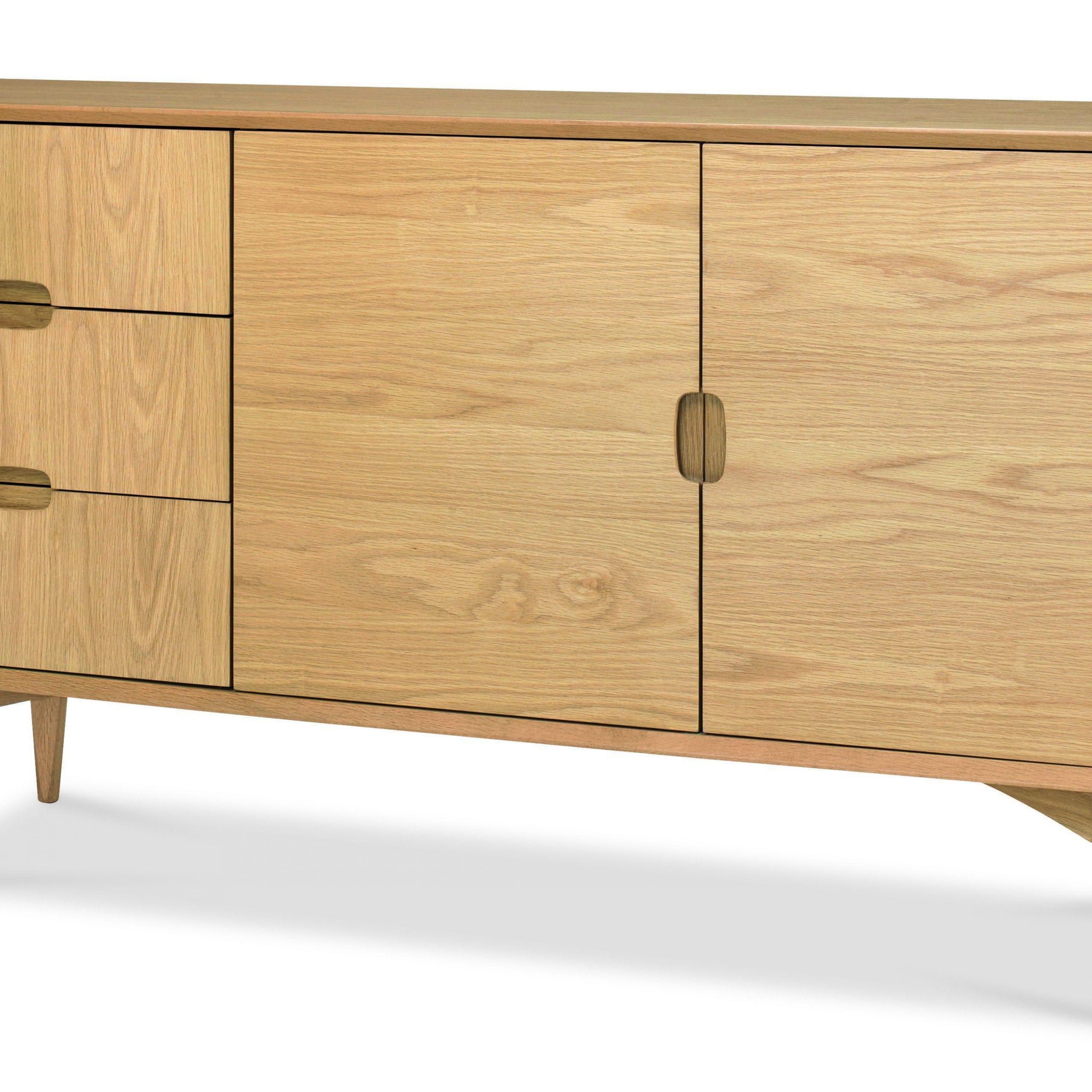 "Desirae 48"" Wide 2 Drawer Sideboards Regarding Popular Oslo Oak Wide Sideboard (View 20 of 20)"