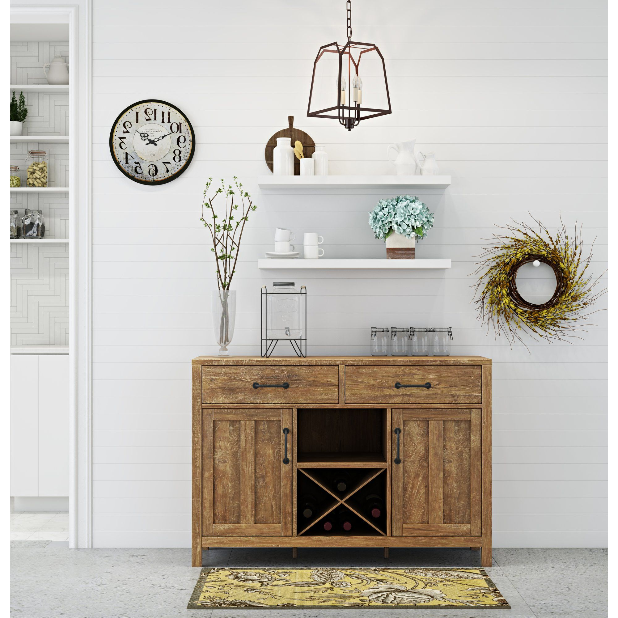 """Dining Room Design Pertaining To Milena 52"""" Wide 2 Drawer Sideboards (View 20 of 20)"""