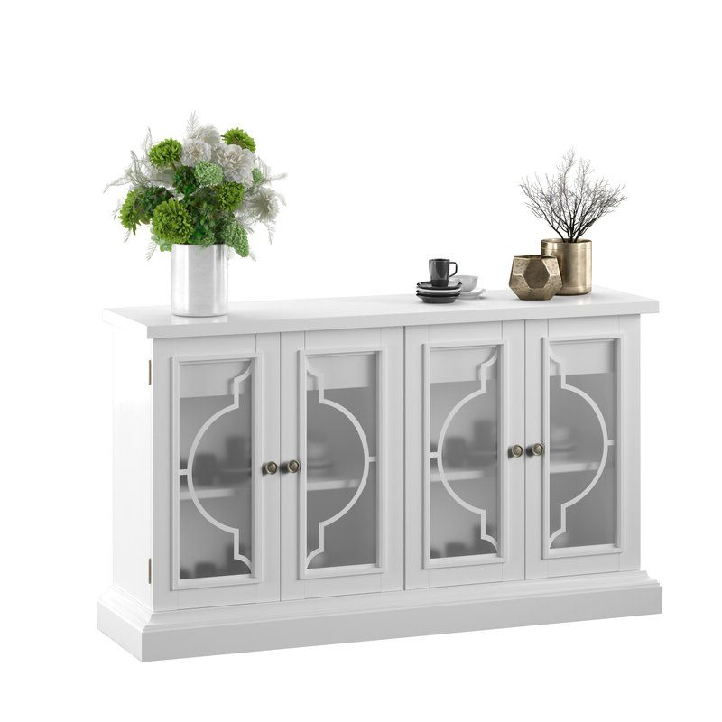 """Dining Room With Isra 56"""" Wide 3 Drawer Sideboards (View 6 of 20)"""