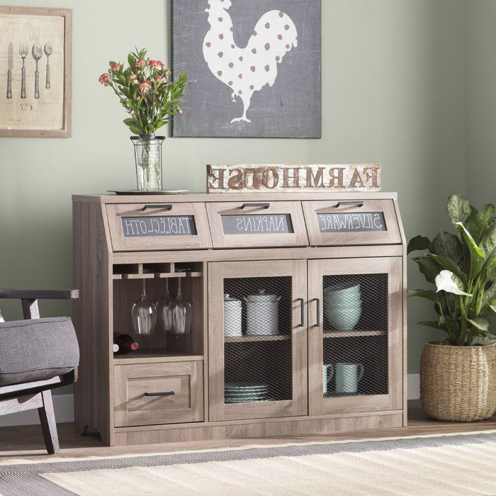 """Diy Kitchen Decor With Regard To Preferred Fugate 48"""" Wide 4 Drawer Credenzas (View 10 of 20)"""