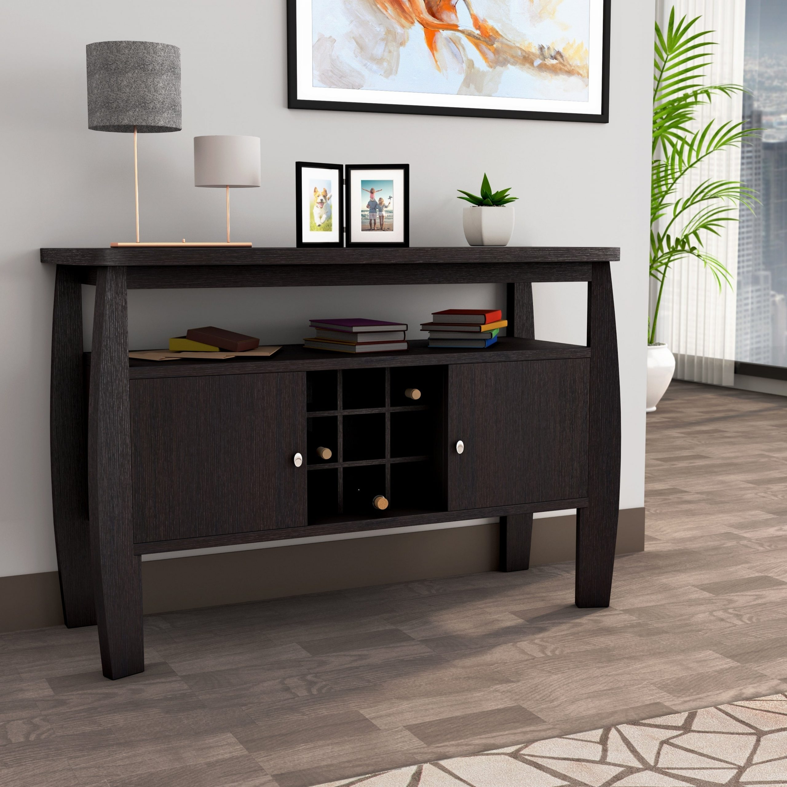 """Featured Photo of Electra 46"""" Wide 4 Drawer Acacia Wood Buffet Tables"""