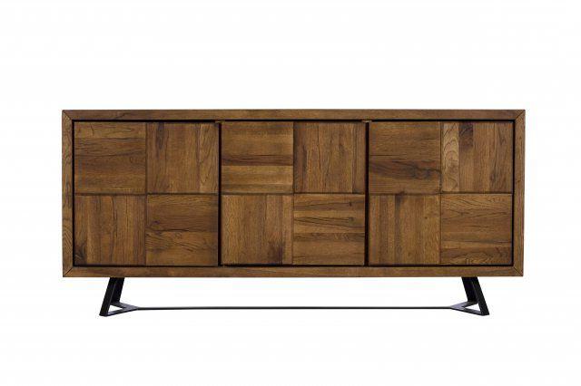 "Ellison 76"" Wide Sideboards With Regard To Fashionable London Oak 3 Door Wide Sideboard (View 2 of 20)"