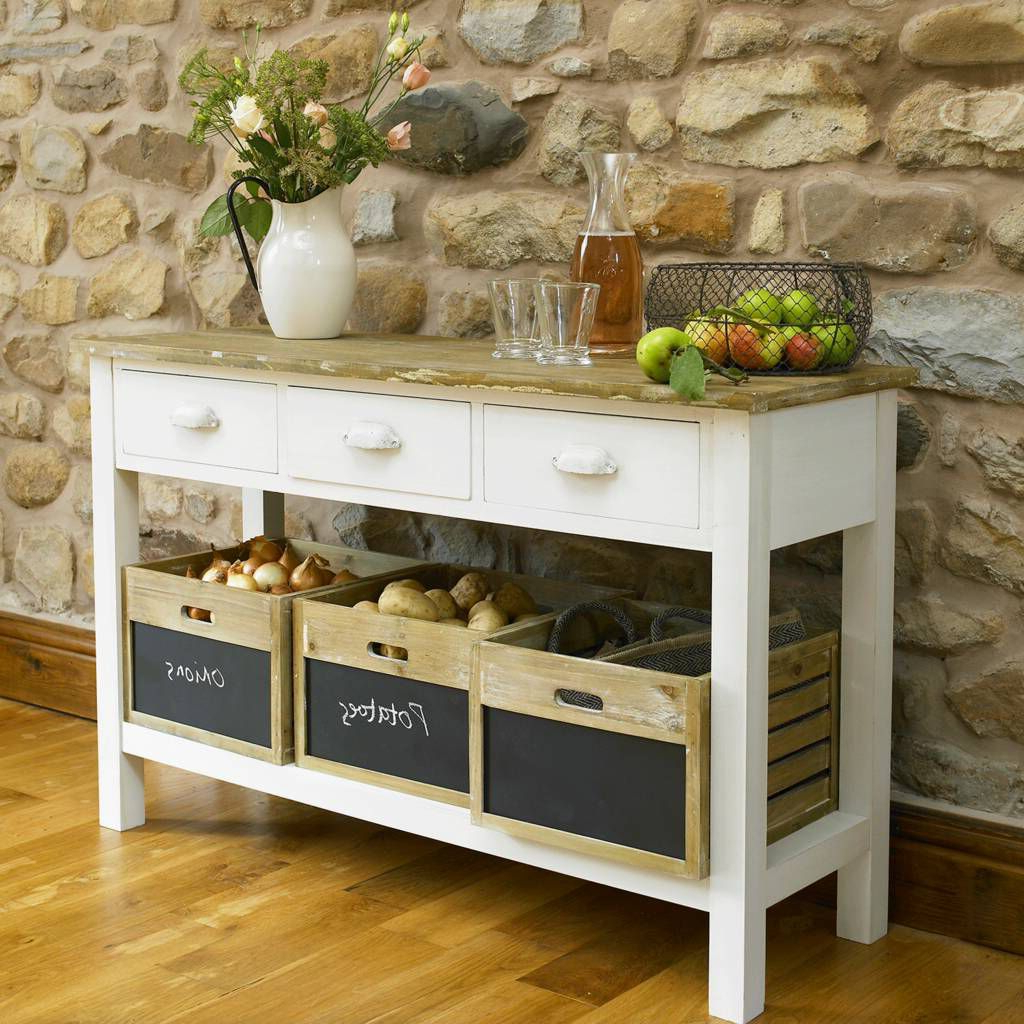 """Emmie 84"""" Wide Sideboards Pertaining To Trendy French Farmhouse Sideboard In (View 17 of 20)"""