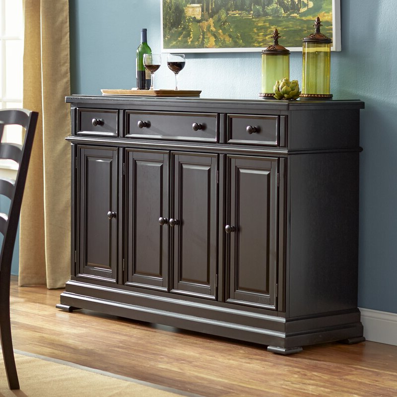 """Eskew 60"""" Wide Sideboards Inside Most Current Three Posts™ Courtdale 60"""" Wide 3 Drawer Sideboard & Reviews (View 3 of 20)"""