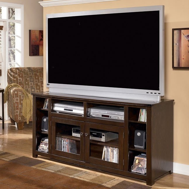 """Evanston Tv Stands For Tvs Up To 60"""" With Trendy Marion 60 Inch Tv Stand Signature Design (View 4 of 20)"""