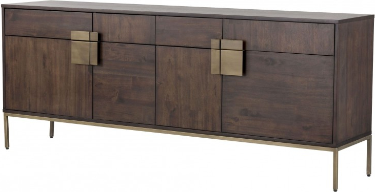 """Fahey 58"""" Wide 3 Drawer Acacia Wood Sideboards In 2020 Mixt Jade Antique Brass Sideboard From Sunpan (View 3 of 20)"""
