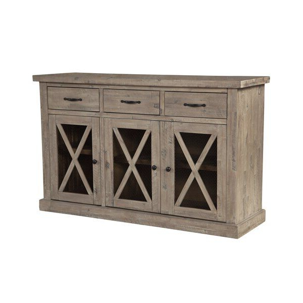 """Fahey 58"""" Wide 3 Drawer Acacia Wood Sideboards In Best And Newest Colborne 58"""" Wide 3 Drawer Acacia Wood Sideboard (View 2 of 20)"""