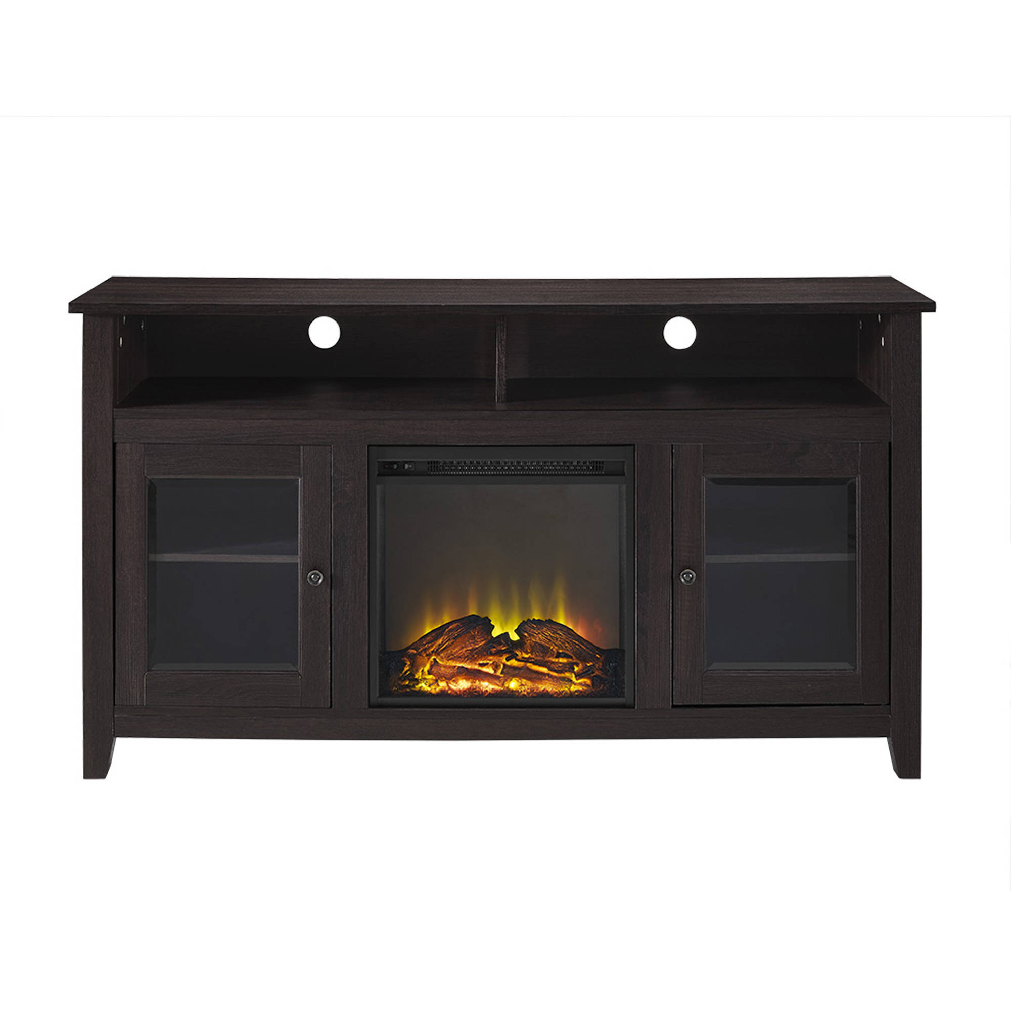 """Famous 58"""" Wood Highboy Fireplace Tv Stand For Tvs Up To 60 In Evanston Tv Stands For Tvs Up To 60"""" (View 11 of 20)"""