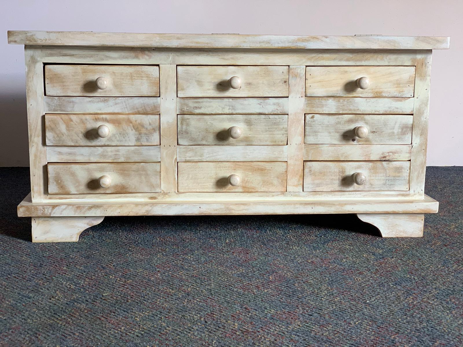 """Famous 9 Drawer Coffee Table, Mango Wood – Wood Décor Intended For Macdonald 36"""" Wide Mango Wood Buffet Tables (View 14 of 20)"""