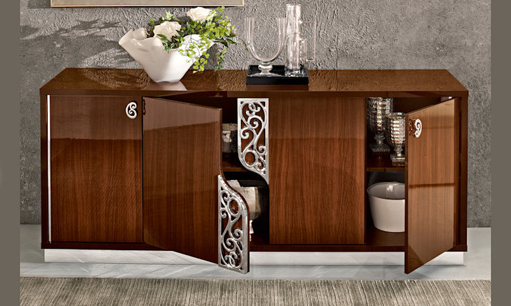 """Famous Electra 46"""" Wide 4 Drawer Acacia Wood Buffet Tables Within Esszimmer Sideboard (View 3 of 17)"""