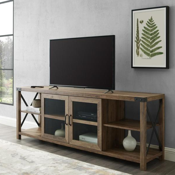 """Famous Lederman Tv Stands For Tvs Up To 70"""" In Welwick Designs 70 In (View 2 of 20)"""