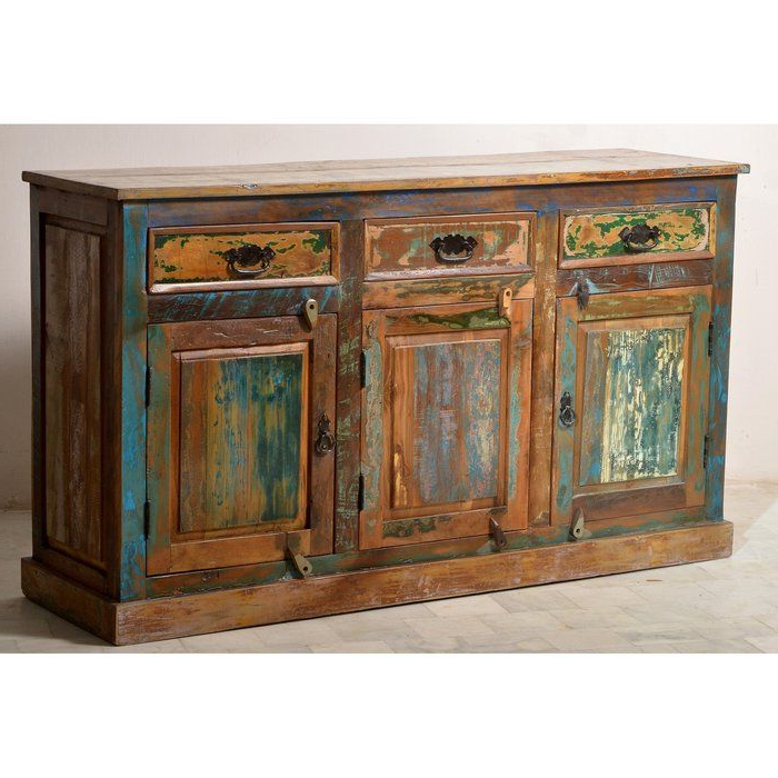 """Famous Maeva 60"""" 3 Drawer Sideboards Intended For Birch 3 Door 3 Drawer Sideboard (View 6 of 20)"""