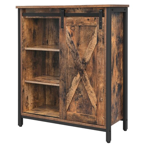 Famous Millwood Pines Floor Storage Cabinet With 2 Doors And 2 Open Shelves Regarding Millwood Pines Friese 1 Door Accent Cabinet (View 15 of 20)