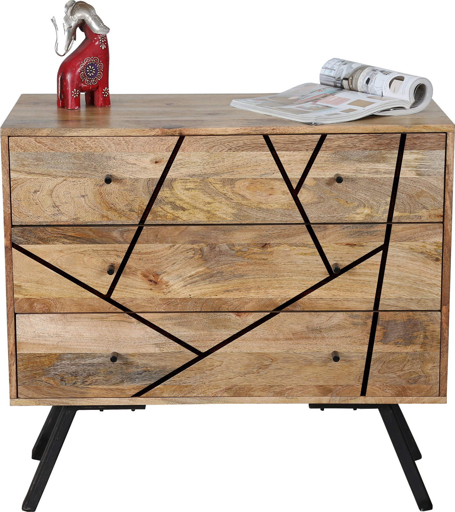 Famous Urban Retro Range Industrial Style 3 Drawer Sideboard For 3 Drawer Sideboards (View 18 of 20)